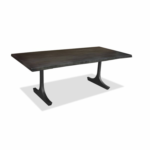 Shop Portland Live Edge Honey Finish Dining Table – Free Shipping In Portland 78 Inch Dining Tables (Image 24 of 25)