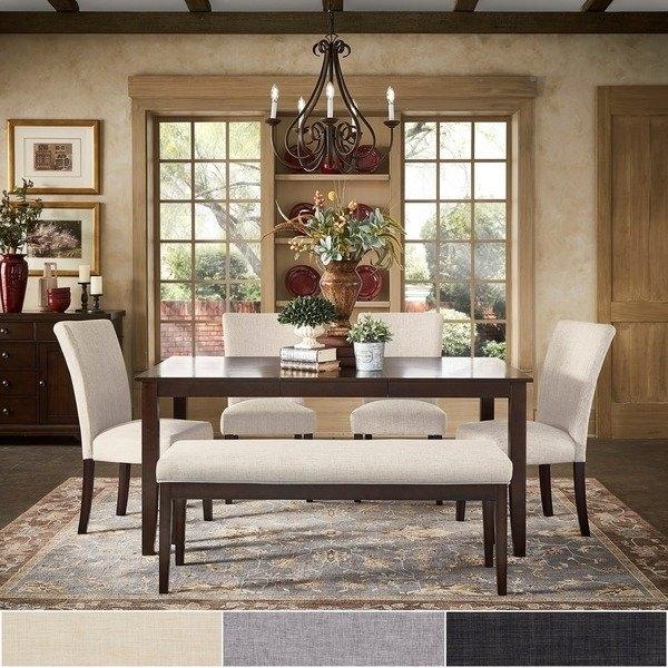 Shop Pranzo Rectangular 66 Inch Extending Dining Table Set Within Extendable Dining Table Sets (View 16 of 25)