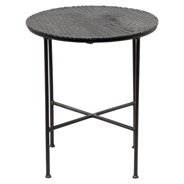 Shop Renwil Bale Grey Aluminum Round Accent Table – Free Shipping With Bale Rustic Grey Dining Tables (View 12 of 25)