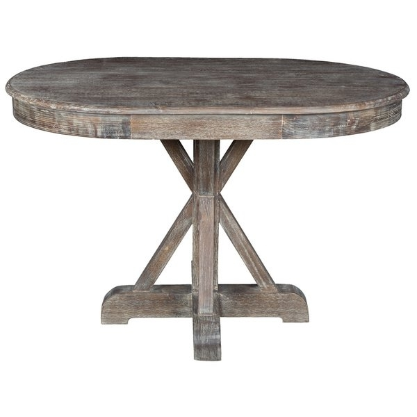 Shop Rockie Rustic Oval Dining Tablekosas Home – Brown For Oval Reclaimed Wood Dining Tables (View 24 of 25)