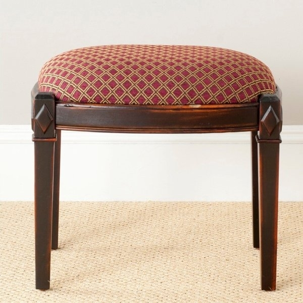 Shop Safavieh Lindy Dark Brown Ottoman – Free Shipping Today In Lindy Espresso Rectangle Dining Tables (View 23 of 25)