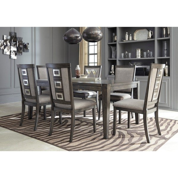 Shop Signature Designashley Chadoni Gray Dining Room Table With Throughout Caden 6 Piece Rectangle Dining Sets (Image 19 of 25)