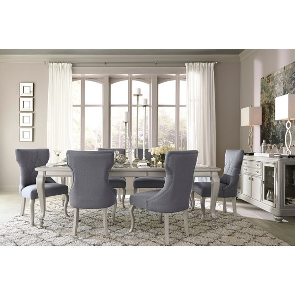 Shop Signature Designashley Coralayne Silver Dining Room Table Within Cora 5 Piece Dining Sets (Image 17 of 25)