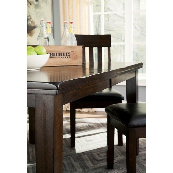 Shop Signature Designashley Haddigan Dark Brown Dining Table For Dark Dining Tables (Image 22 of 25)