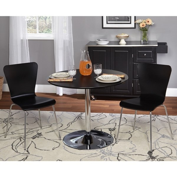 Shop Simple Living 3 Piece Pisa Dining Set – Free Shipping Today Inside Pisa Dining Tables (Photo 12 of 25)