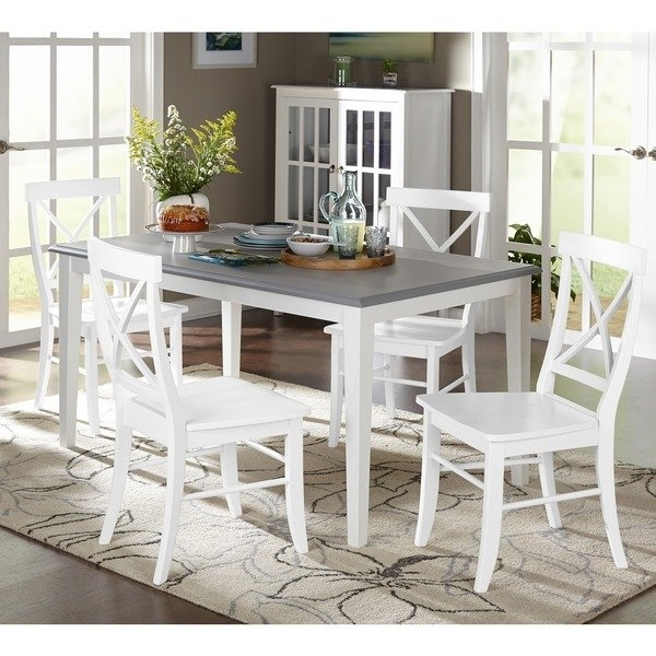 Shop Simple Living 5 Piece Helena Dining Set – Free Shipping Today For Laurent 5 Piece Round Dining Sets With Wood Chairs (Image 22 of 25)