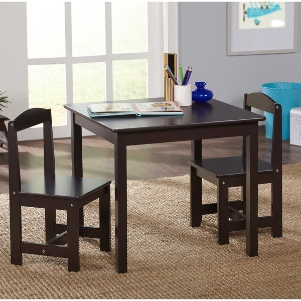Shop Simple Living Espresso 3 Piece Hayden Kids Table And Chair Set Throughout Hayden Dining Tables (Image 24 of 25)