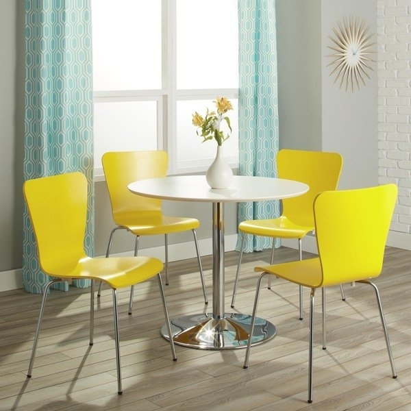 Shop Simple Living Pisa Modern 5 Piece Dining Set – Free Shipping Pertaining To Pisa Dining Tables (Image 24 of 25)