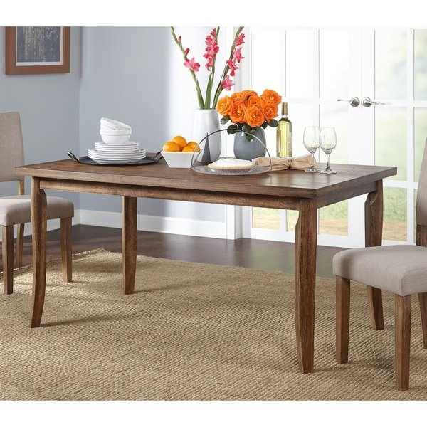Shop Simple Living Provence Dining Table – Brown – Free Shipping In Provence Dining Tables (Image 24 of 25)