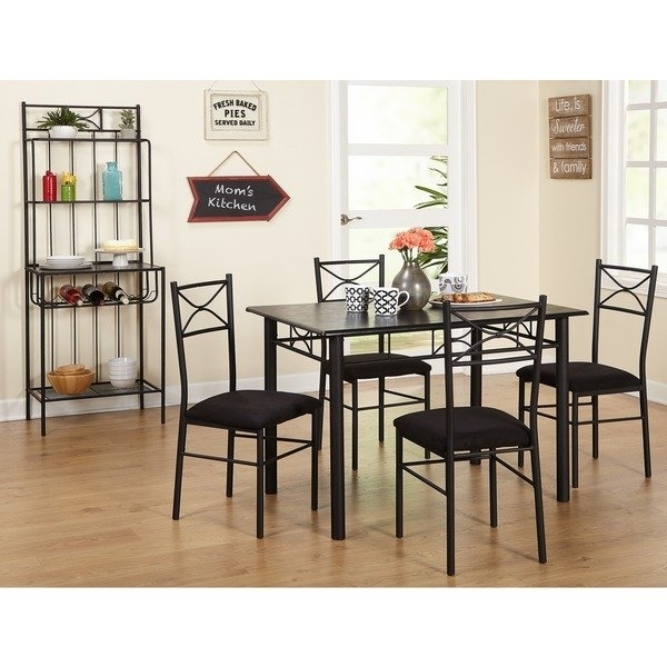 Shop Simple Living Valencia 6 Piece Metal Dining Set With Baker's Throughout Valencia 5 Piece 60 Inch Round Dining Sets (View 2 of 25)