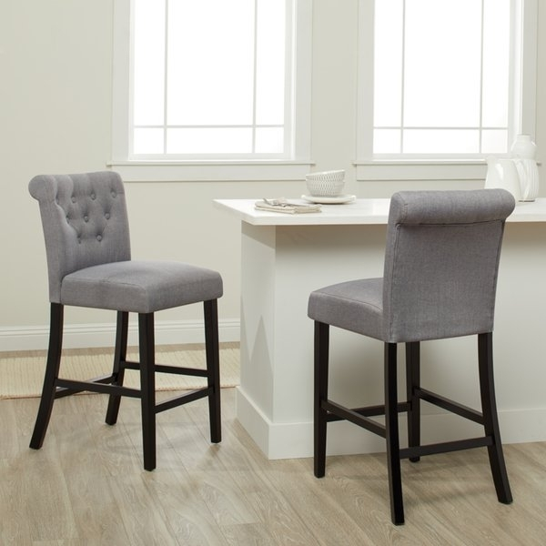 Featured Image of Laurent 7 Piece Counter Sets With Wood Counterstools