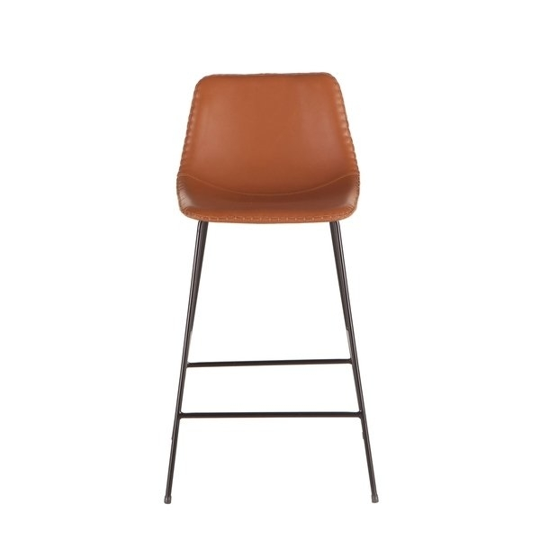 Shop Tan Faux Leather Counter Height Stoolworld Interiors – Free Intended For Valencia 5 Piece Counter Sets With Counterstool (Photo 20 of 25)