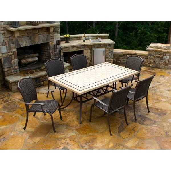 Shop Tortuga Outdoor Marquesas 7 Piece Dining Set – Free Shipping Throughout Outdoor Tortuga Dining Tables (Image 7 of 25)