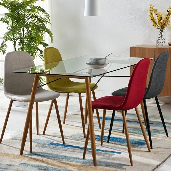 Shop Versanora Minimalista Glass And Metal Dining Table – Free With Regard To Nora Dining Tables (Image 23 of 25)