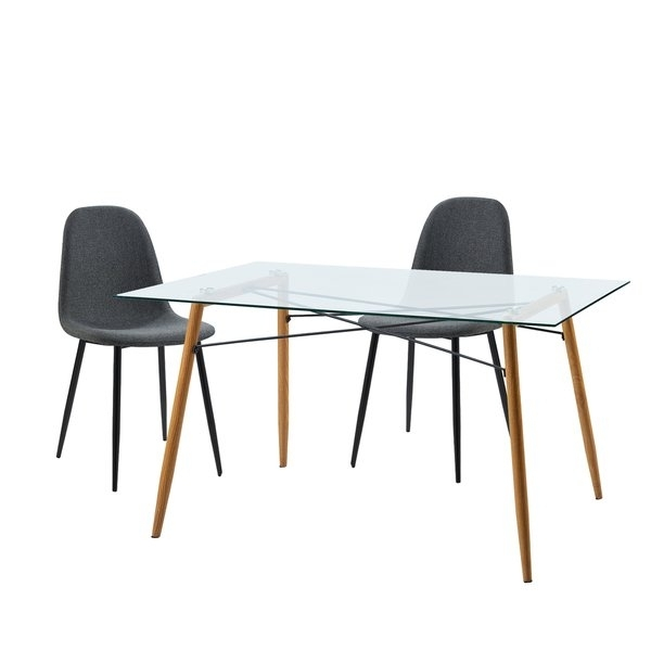 Shop Versanora Minimalista Table And 2 Chairs Dining Set – Free Pertaining To Nora Dining Tables (Image 24 of 25)