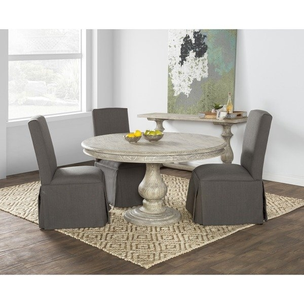Shop Wakefield Reclaimed Wood Grey Round Dining Tablekosas Home With Regard To Valencia 5 Piece 60 Inch Round Dining Sets (View 6 of 25)
