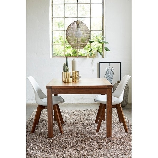 Shop Walnut Modern Square Extendable Dining Table – On Sale – Free Within Square Extendable Dining Tables (Image 14 of 25)