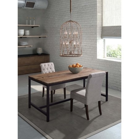 Shop Zuo Natural Modern Distressed Brown Wood Dining Table – Free With Regard To Natural Wood & Recycled Elm 87 Inch Dining Tables (Image 24 of 25)
