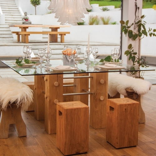 Show Us Yours Oak & Glass Dining Table Intended For Glass Oak Dining Tables (View 5 of 25)