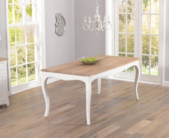 Sienna Acacia And Painted Ivory Dining Table | Morale Home Furnishings Within Ivory Painted Dining Tables (View 8 of 25)