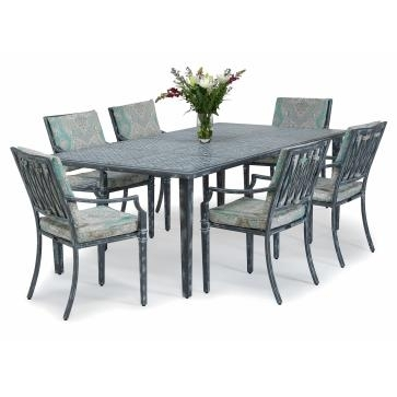Sienna Metal Outdoor Dining Table, Metal Outdoor Furniture From Throughout Outdoor Sienna Dining Tables (Image 20 of 25)