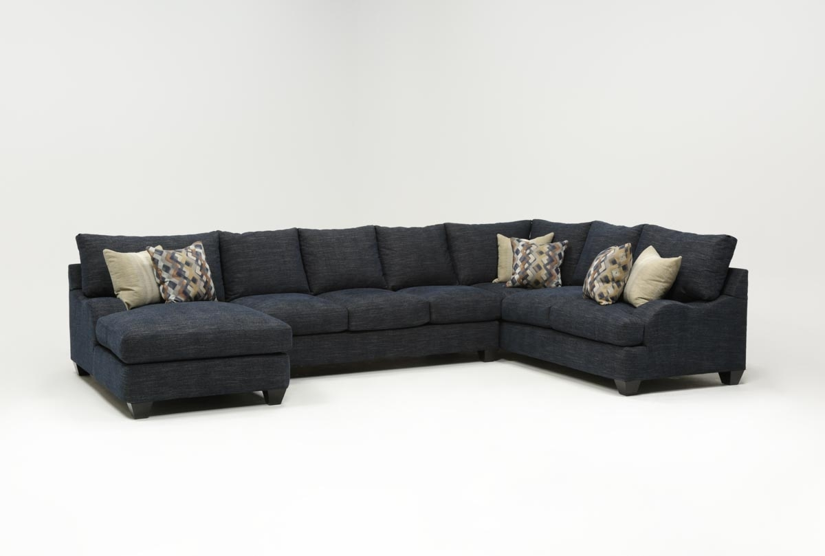 Sierra Down 3 Piece Sectional W/laf Chaise | Living Spaces Intended For Cohen Down 2 Piece Sectionals (Image 24 of 25)