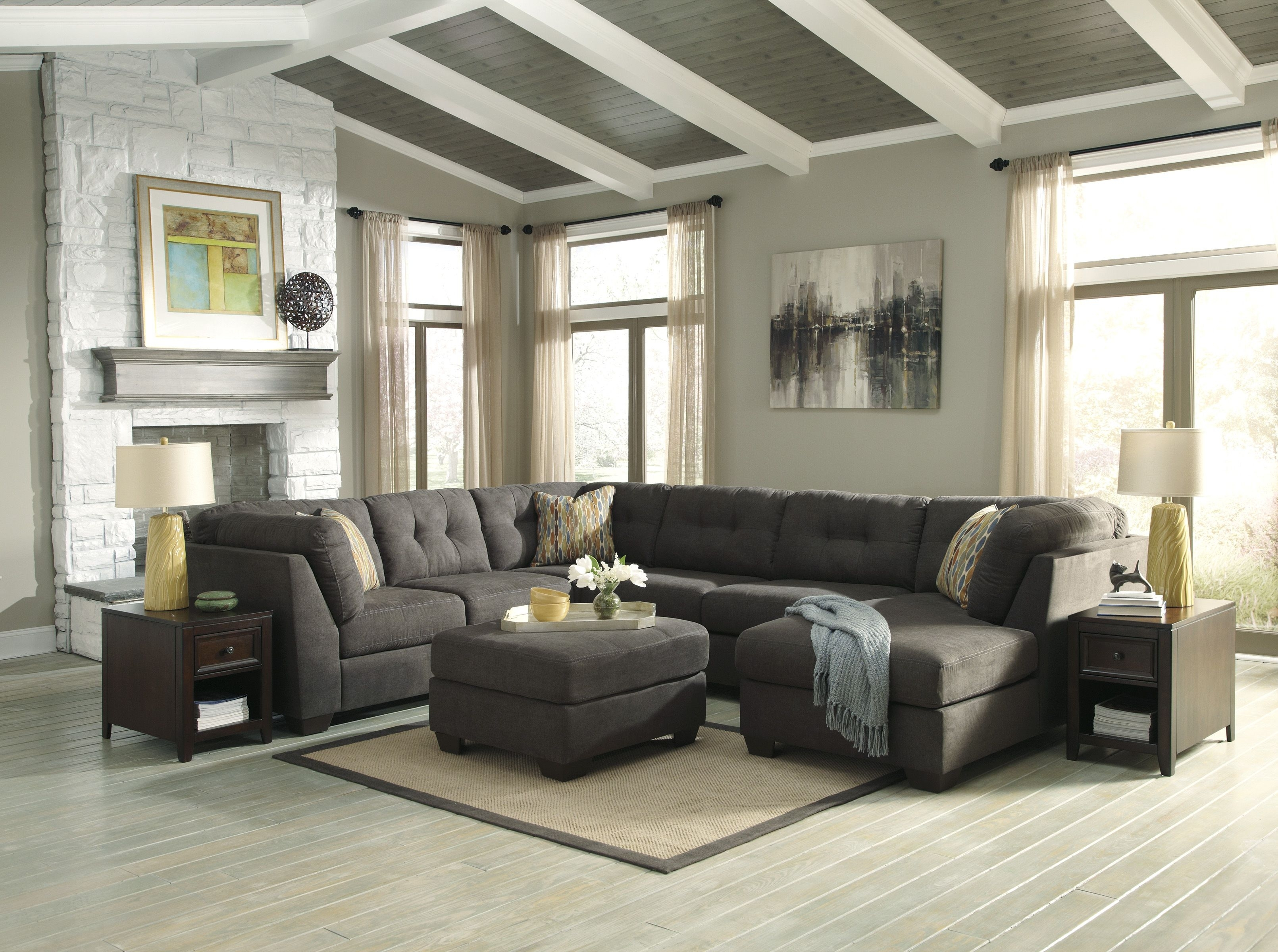 Signature Design Living Room 3 Pc Sectional 197 Sectional – Comfy Inside Karen 3 Piece Sectionals (View 22 of 25)