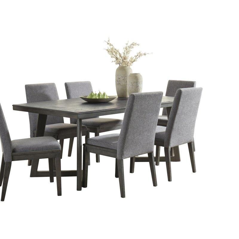 Signature Designashley Besteneer Contemporary Dining Table In Regarding Walden 7 Piece Extension Dining Sets (Image 18 of 25)