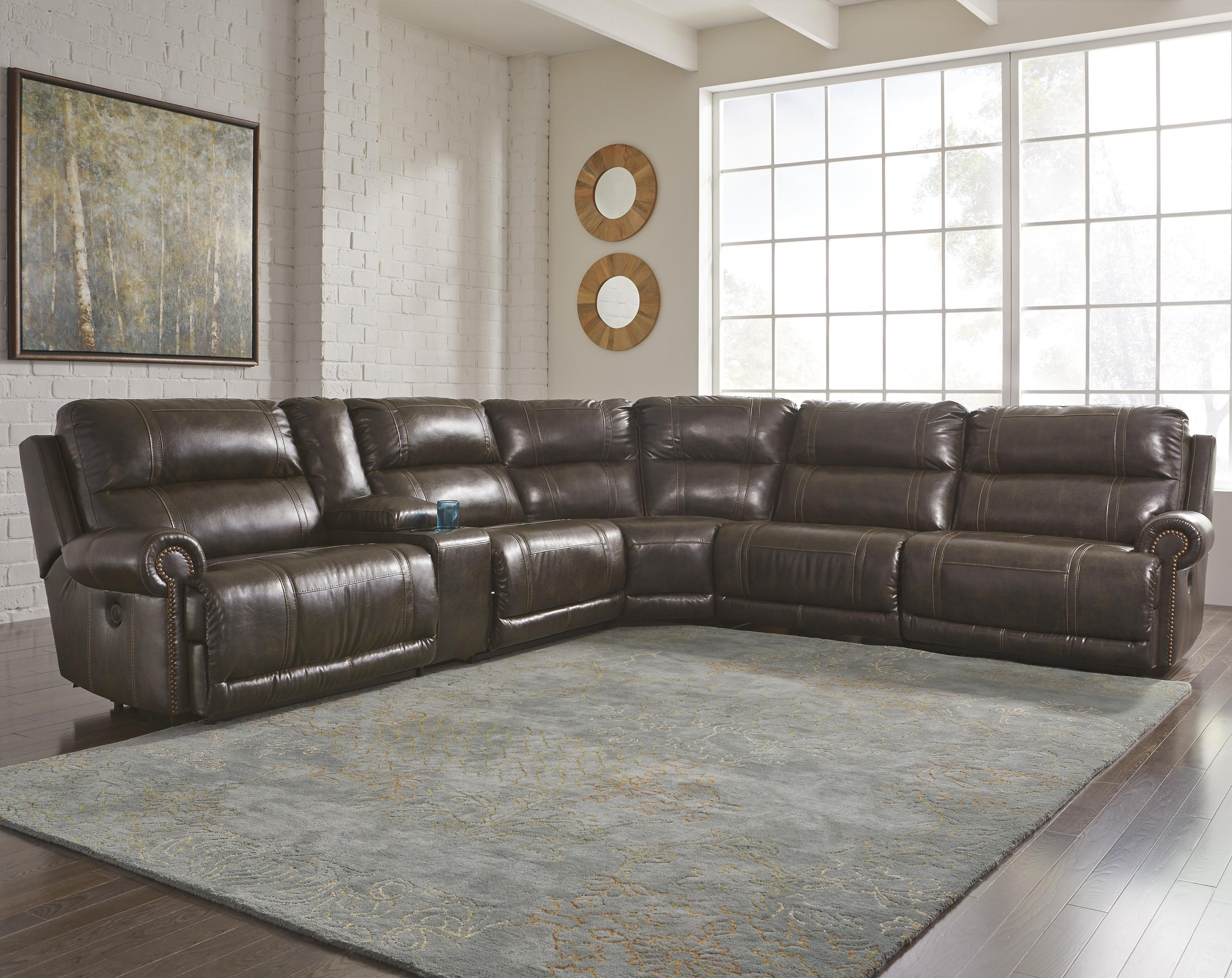 Signature Designashley Dak Durablend® 6 Piece Reclining Throughout Jackson 6 Piece Power Reclining Sectionals (View 15 of 25)