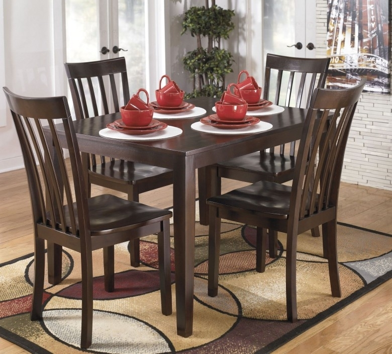 Signature Designashley Hyland 5 Piece Casual Dining Set – Hyland Intended For Hyland 5 Piece Counter Sets With Bench (Image 22 of 25)