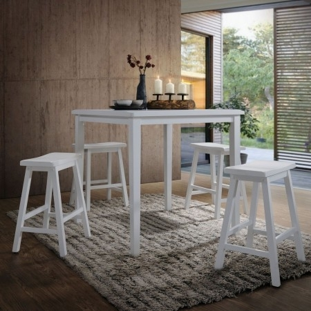 Signature Designashley Hyland 5 Piece Casual Dining Set – Hyland With Hyland 5 Piece Counter Sets With Stools (View 17 of 25)