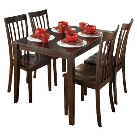 Signature Designashley Hyland 5 Piece Dinette Set | Wayfair Intended For Hyland 5 Piece Counter Sets With Bench (Image 25 of 25)