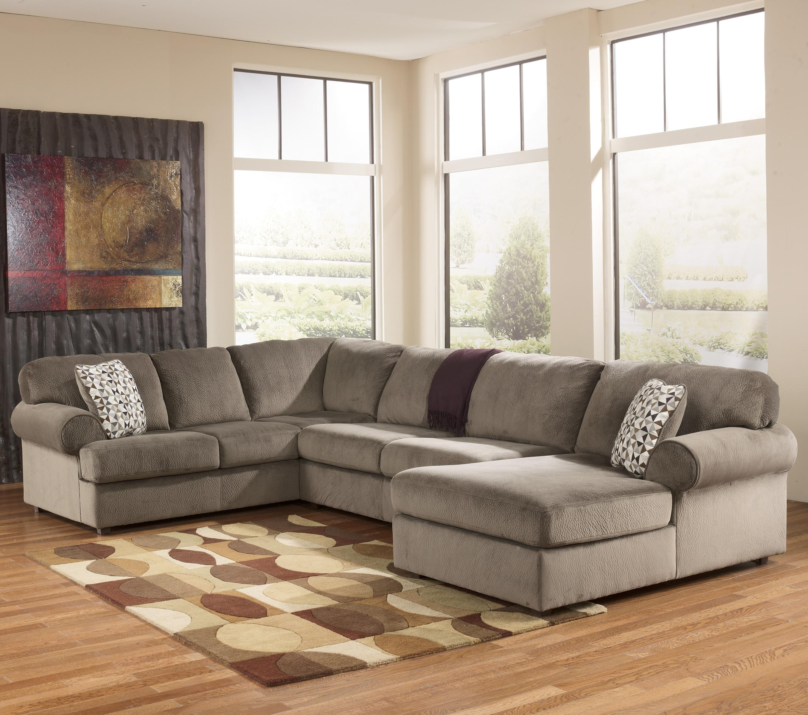 Signature Designashley Jessa Place – Dune Casual Sectional Sofa Inside Norfolk Chocolate 3 Piece Sectionals With Raf Chaise (Image 28 of 33)