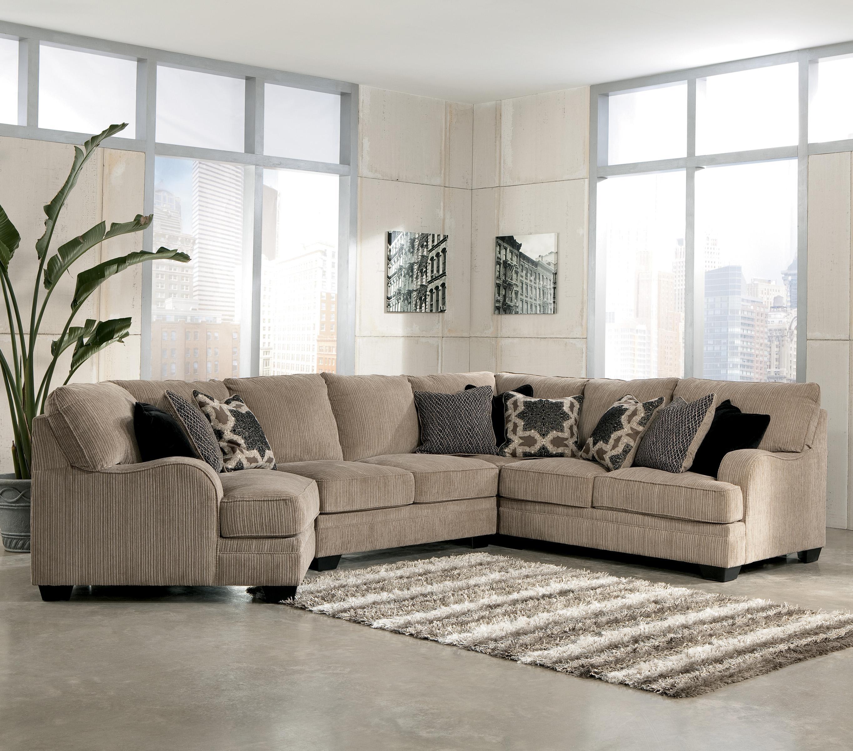 Signature Designashley Katisha – Platinum 4 Piece Sectional Sofa Intended For Blaine 4 Piece Sectionals (Image 19 of 25)
