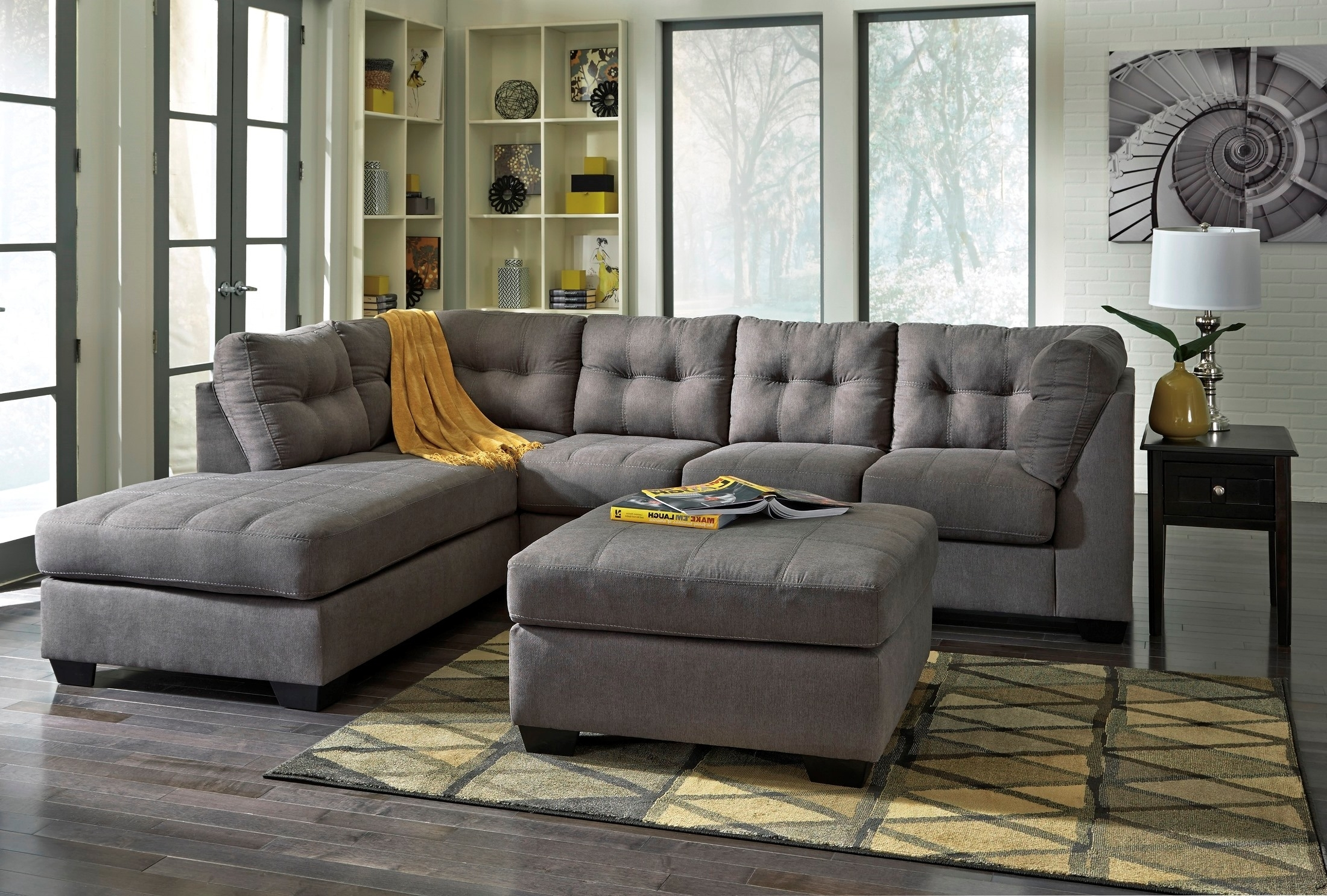 Signature Designashley Maier Charcoal Laf Sectional – Maier With Sierra Down 3 Piece Sectionals With Laf Chaise (Image 25 of 25)