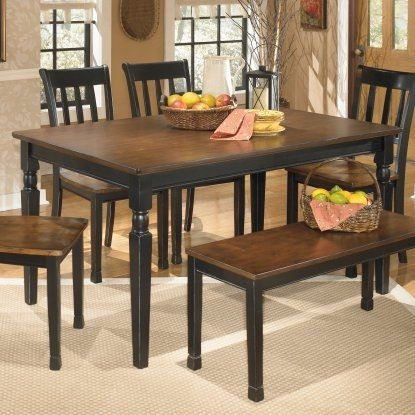 Signature Designashley Owingsville Rectangular Dining Table Regarding Candice Ii 6 Piece Extension Rectangle Dining Sets (Image 16 of 25)
