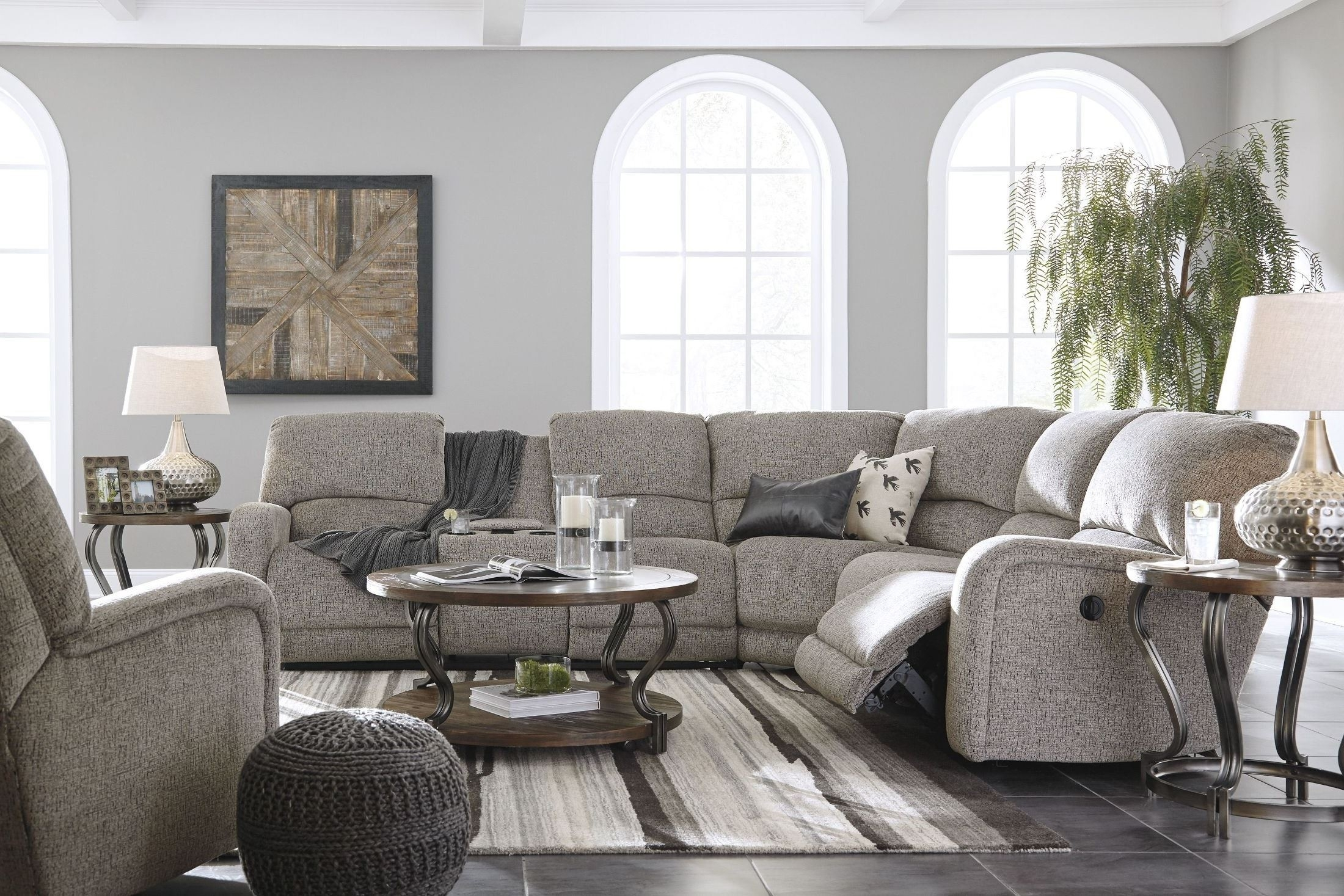 Signature Designashley Pittsfield Fossil Raf Power Reclining Inside Tess 2 Piece Power Reclining Sectionals With Laf Chaise (View 24 of 25)