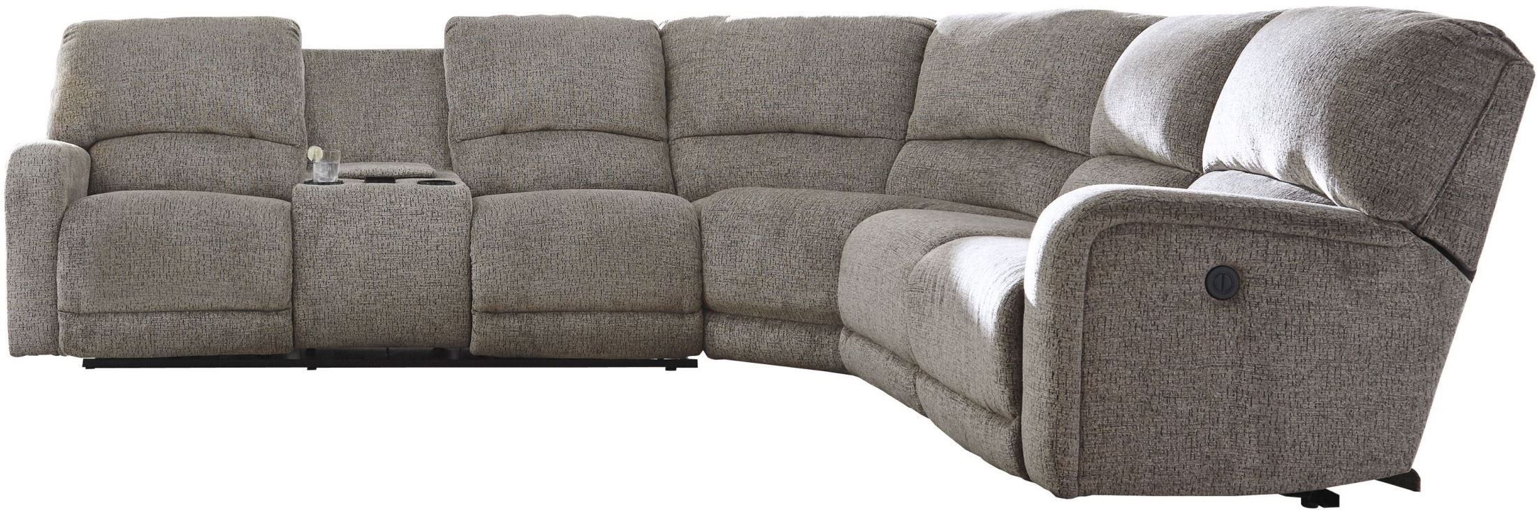 Signature Designashley Pittsfield Fossil Raf Power Reclining Inside Tess 2 Piece Power Reclining Sectionals With Laf Chaise (View 21 of 25)