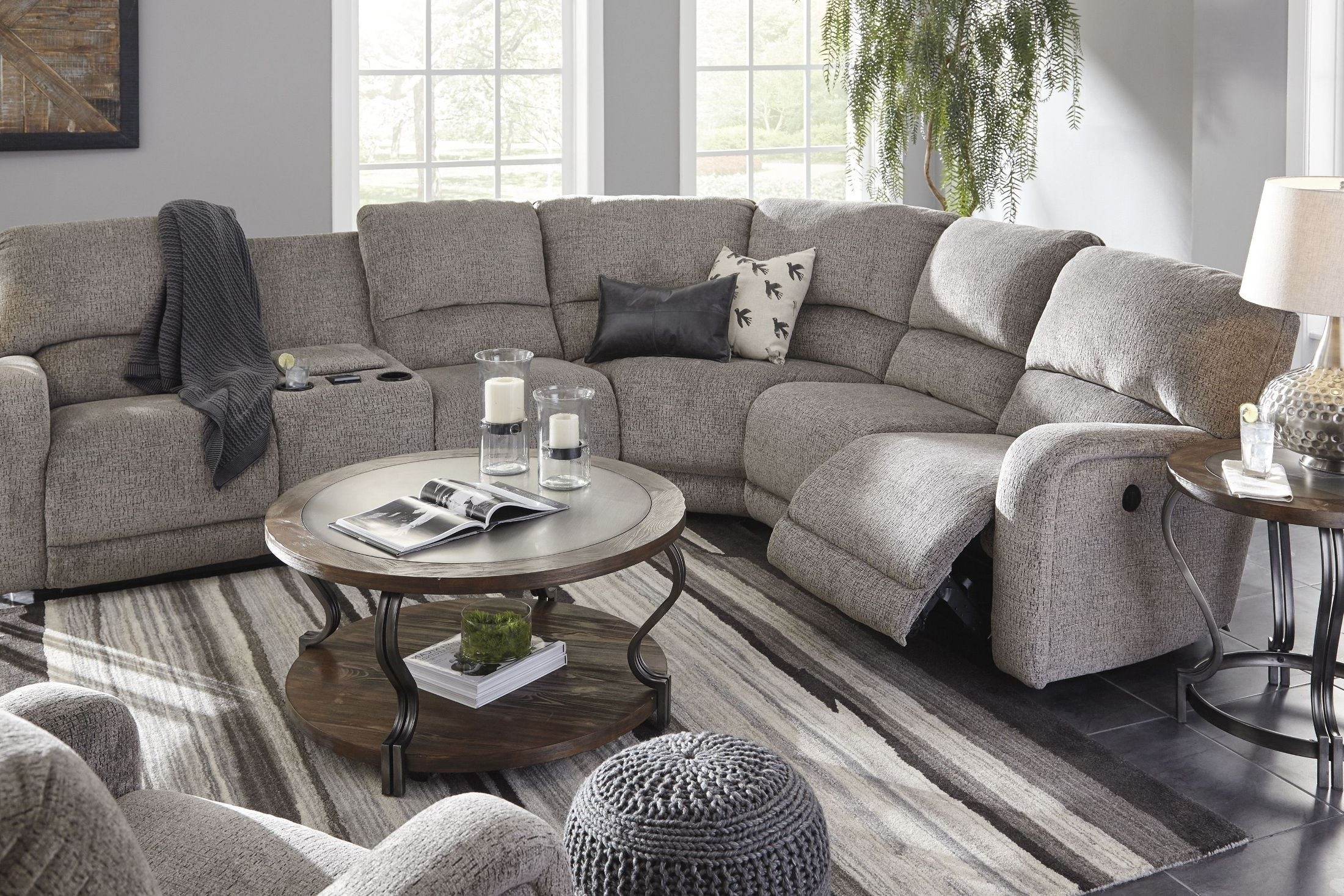 Signature Designashley Pittsfield Fossil Raf Power Reclining Throughout Tess 2 Piece Power Reclining Sectionals With Laf Chaise (Image 18 of 25)