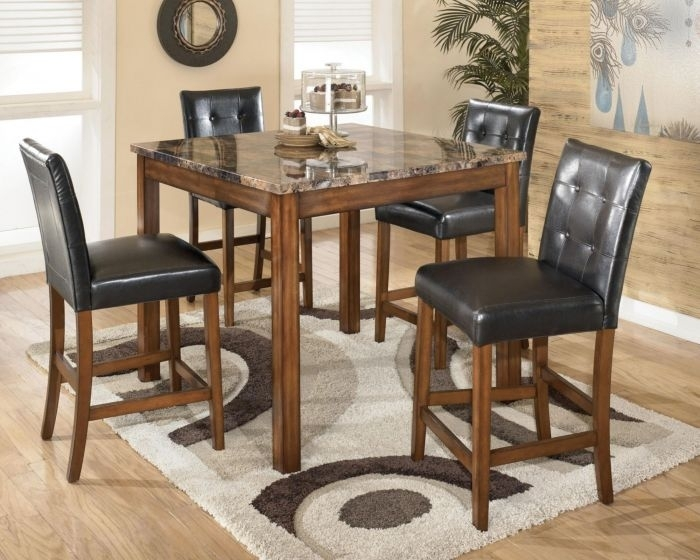 Signature Designashley Tipton 5 Piece Counter Height Dining Set Within Hyland 5 Piece Counter Sets With Stools (View 10 of 25)
