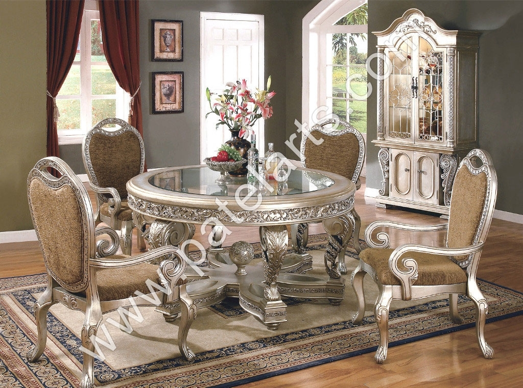 Silver Dining Set, Dining Table, Silver Dining Sets, Manufacturers Pertaining To Royal Dining Tables (Image 22 of 25)