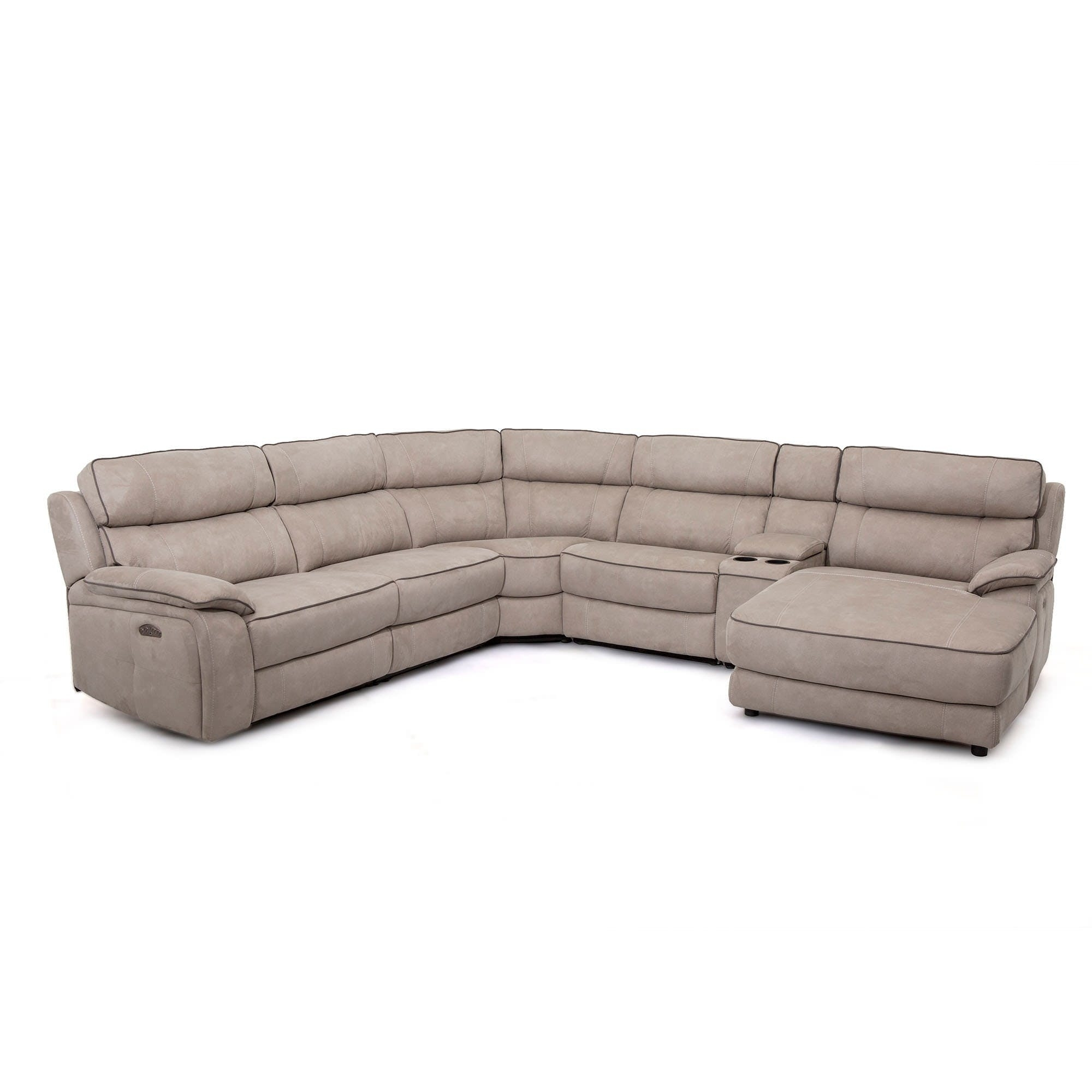 Silver Grey 6 Piece Power Reclining Sectional With Power Headrest With Kristen Silver Grey 6 Piece Power Reclining Sectionals (Image 20 of 25)
