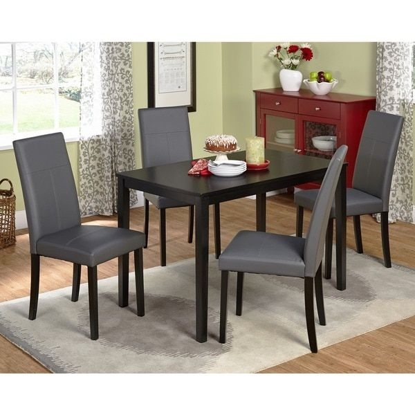 Simple Living Bettega Parson Five Piece Dining Set | Small Space Within Pierce 5 Piece Counter Sets (View 10 of 25)