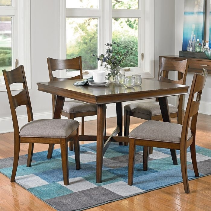 Simple Living Farmhouse 5 Or 7 Piece Oak (Brown) Dining Se For Rocco 7 Piece Extension Dining Sets (Image 19 of 25)