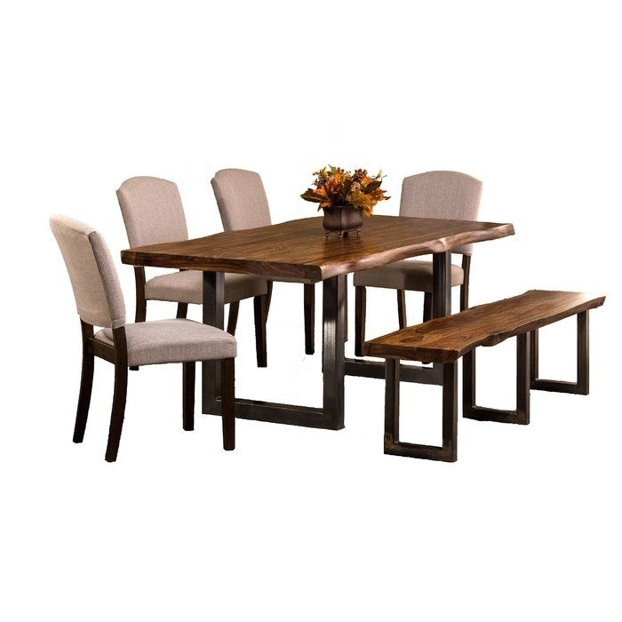 Simple Living Farmhouse 5 Or 7 Piece Oak (Brown) Dining Se For Rocco 7 Piece Extension Dining Sets (Image 18 of 25)
