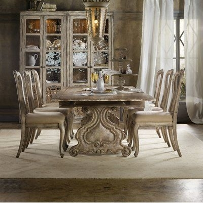 Simple Living Farmhouse 5 Or 7 Piece Oak (Brown) Dining Se Pertaining To Rocco 7 Piece Extension Dining Sets (Image 21 of 25)