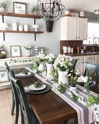 Simple Summer Dining Room In Amos 7 Piece Extension Dining Sets (View 21 of 25)