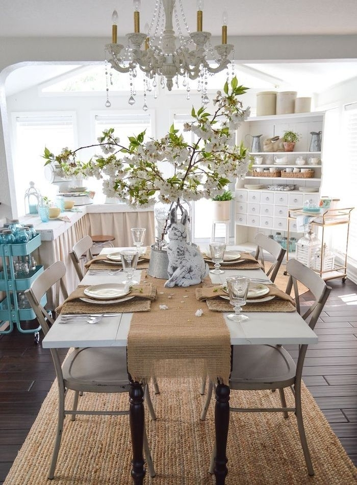 Simple Summer Dining Room Inside Amos 7 Piece Extension Dining Sets (View 16 of 25)
