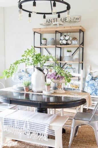 Simple Summer Dining Room Pertaining To Amos 7 Piece Extension Dining Sets (View 19 of 25)
