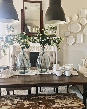 Simple Summer Dining Room With Regard To Amos 7 Piece Extension Dining Sets (View 25 of 25)